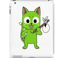 Anime cat and pack - green iPad Case/Skin