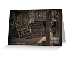 The Porch. Greeting Card
