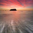 Red Rush ~ Motuotau Island by Ken Wright