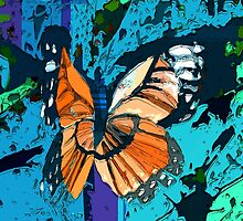 Orange butterfly graphic by ♥⊱ B. Randi Bailey