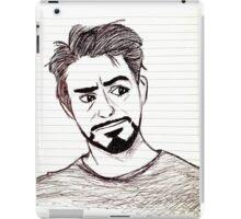 Robert Downey, Jr. on Lined Paper iPad Case/Skin