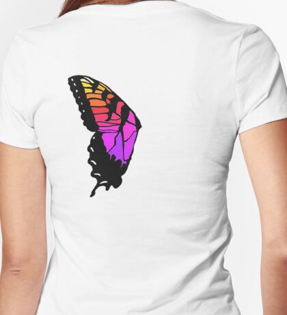Butterfly wing pmore brand new eyes inspired  Womens Fitted T-Shirt