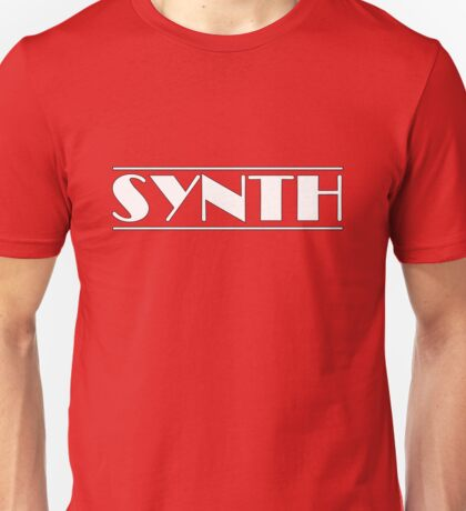 Synth White Unisex T-Shirt