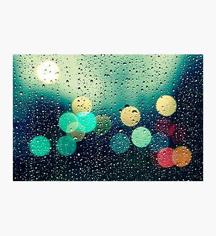 Rain and the city Photographic Print