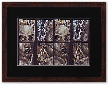 Pained Expression Tetraptych Aceo