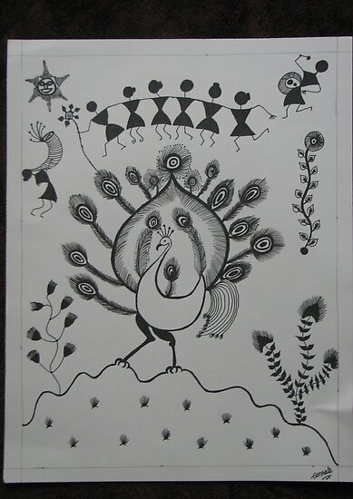 tribal art paintings. Art-Tribal painting from
