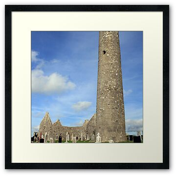 Kilmacduagh round tower near the town of Gort in county  Galway
