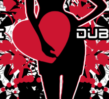 "Updated! 0909 ""I Heart Dubstep"" Sticker by VII23"