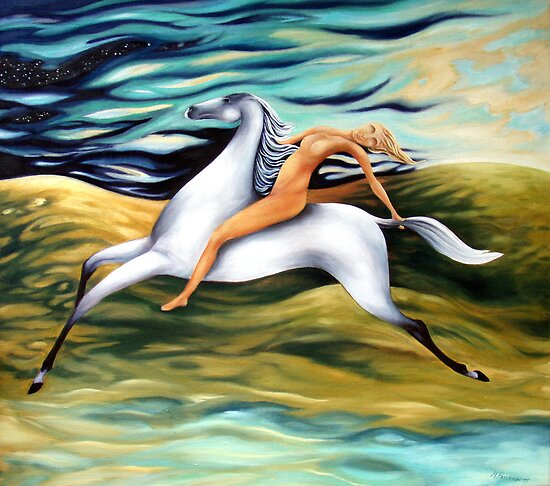 Oil Paintings: Rider by Maria Paterson