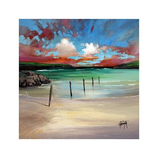Oil Paintings: Barra Posts by Scott Naismith