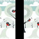 Snow Art: Winter card by Anastasiia Kucherenko