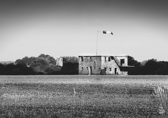 """World War 2 Airfield Derelict Control Tower (""""Still Waiting"""") by"""