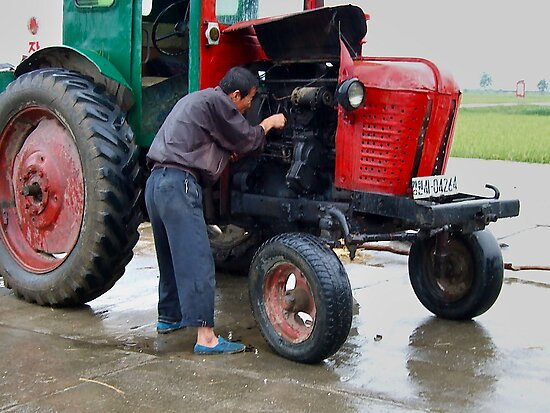 Fixing the tractor engine