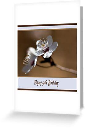 Happy 50th Birthday Greeting Cards By Joy Watson