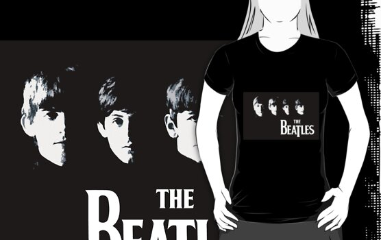 "The Beatles - Band members"" T-Shirt Design by DronestarStudio ..."
