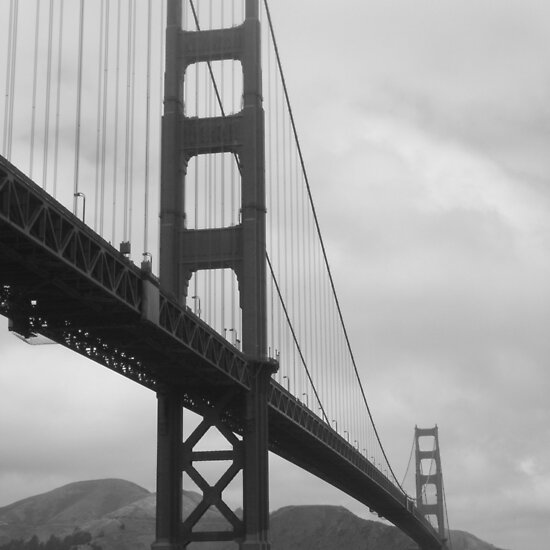 golden gate bridge black and white pictures. Golden Gate Bridge from Fort