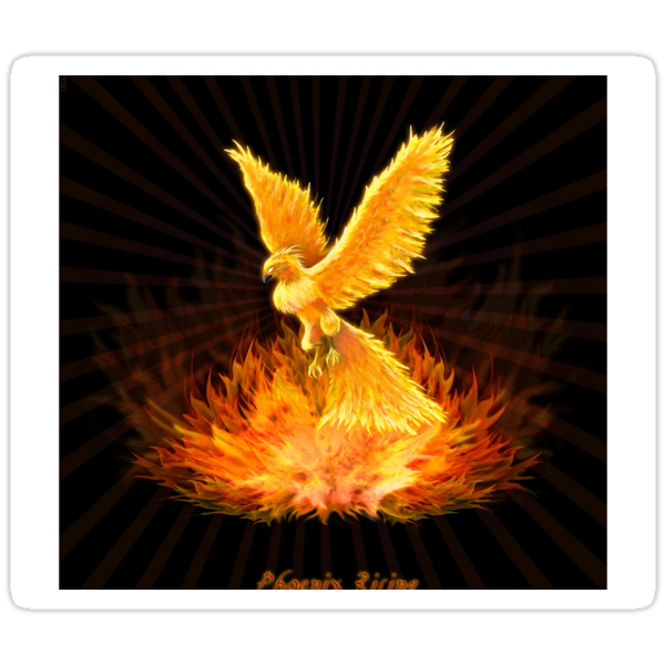 &quot;Phoenix Rising&quot; stickers by Leah McNeir