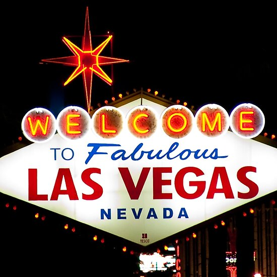 welcome to las vegas sign at night. Welcome to Fabulous Las Vegas