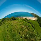 September's Photograph - Kinnagoe Bay panorama - Buy it as a framed panoramic photograph