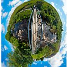 April's Photograph - Footbridge over Glen River Panorama - Buy it as a Framed Photographic Print
