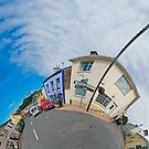 February's Photograph - Kilcar Main Street Panorama - Buy it as a Framed Photographic Print