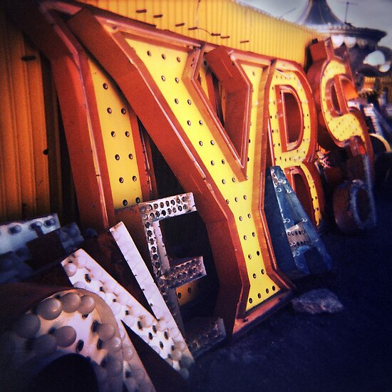 Toy Camera: Neon Boneyard by Steve Lovegrove