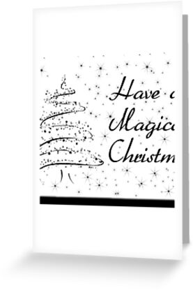 Black n white christmas card greeting cards by bernie stronner greeting cards tags m4hsunfo