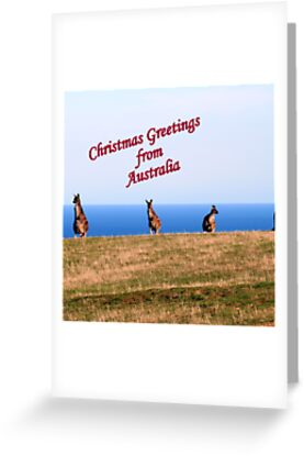 Christmas greetings from australia greeting cards by elphonline a card from australia to loved ones overseas sending christmas greetings depicting kangaroos from south australia m4hsunfo