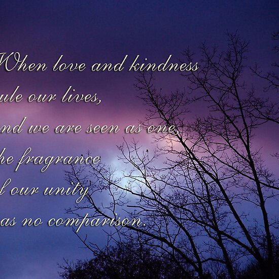 Love and Kindness - inspirational by vigor