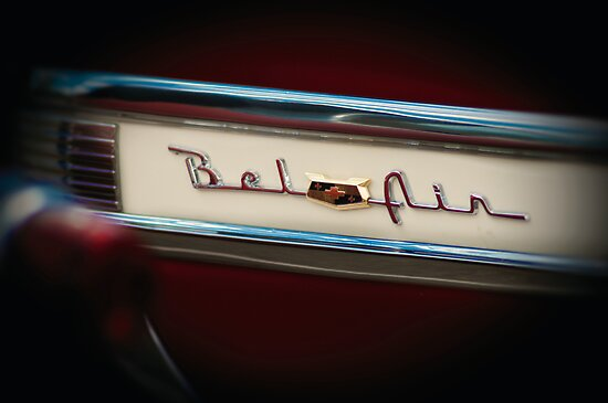 Red Chevy Bel Air Logo by