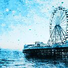 Blue Big Wheel Art by LindaMPH