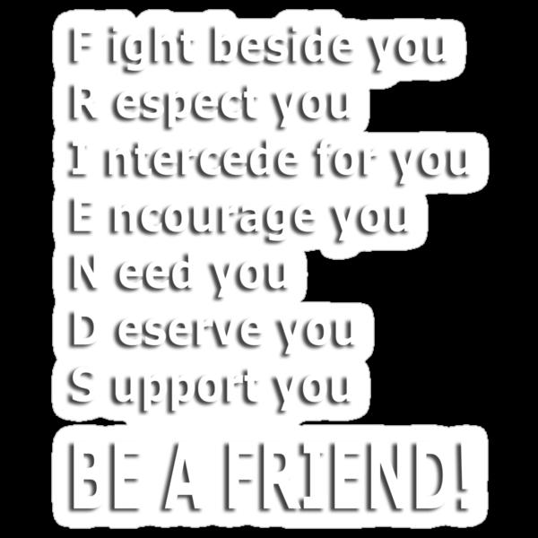 friends acrostic t by dedmanshootn Follow
