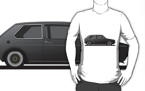 Vw Golf Mk1 Black. Volkswagen Golf Mk1 - Black by