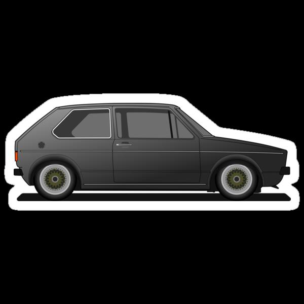Vw Golf Mk1 Black. quot;Volkswagen Golf Mk1 - Blackquot;