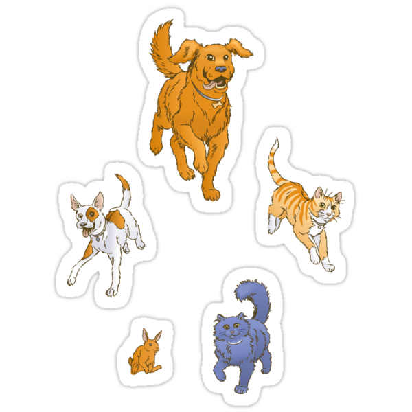 Pets on the March stickers