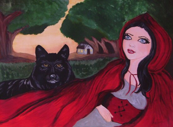 red riding hood wolf. Gothic Red Riding Hood amp; The
