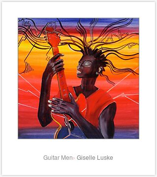 Laminated Print: Guitar Men
