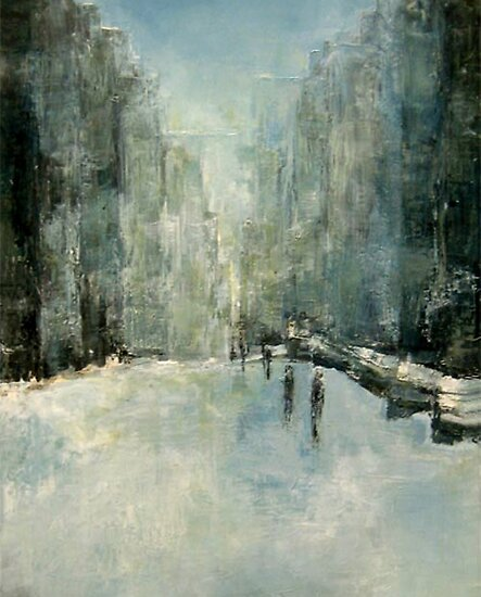 Oil Paintings: Snowy Day by J Anderson