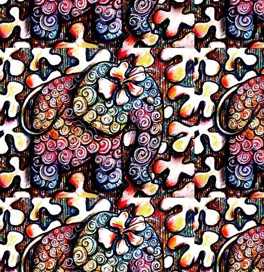 """Tattoo Elephant "" Fine Art Print by Karin Taylor [957475-5] - RedBubble.com"