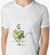 Jazz musician Mens V-Neck T-Shirt
