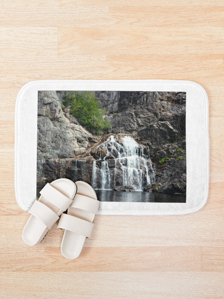 Alternate view of Canyon waterfalls Bath Mat