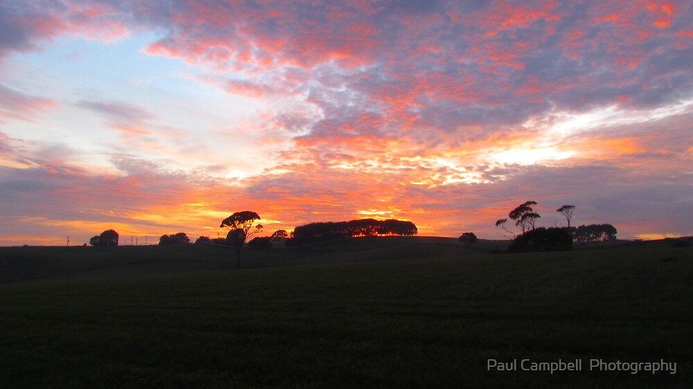 Flowerdale Sunrise by Paul Campbell  Photography