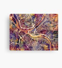 Pittsburgh Pennsylvania Street Map Canvas Print
