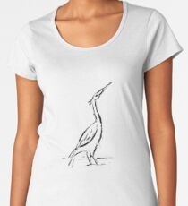 Heron sketch Premium Scoop T-Shirt