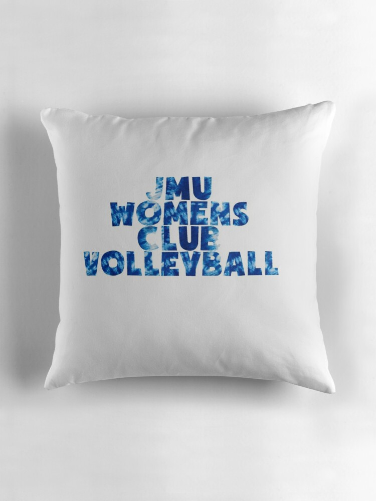 Quot Jmu Club Volleyball Quot Throw Pillows By Oliviagaber Redbubble