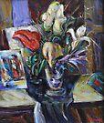 Still life with flowers by Stefano Popovski