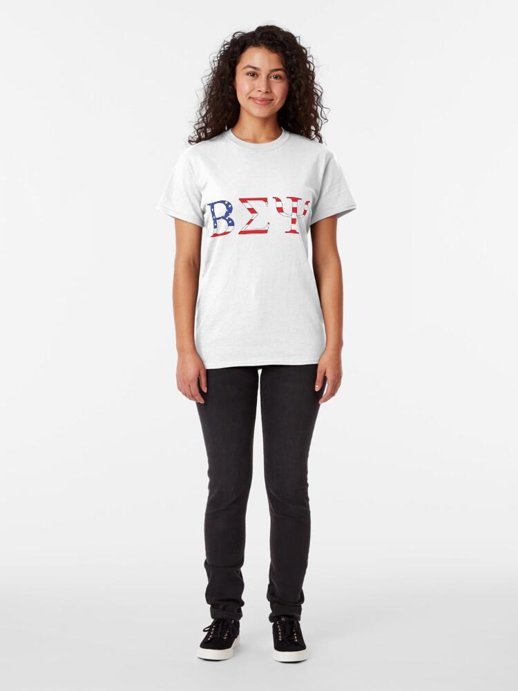 Alternate view of Beta Sigma Psi - American flag Classic T-Shirt
