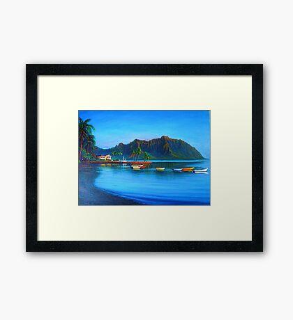 Kaneohe Bay - early morn Framed Print