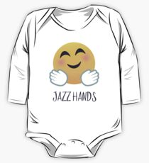 Jazz Hands Emoji Long Sleeve Baby One-Piece
