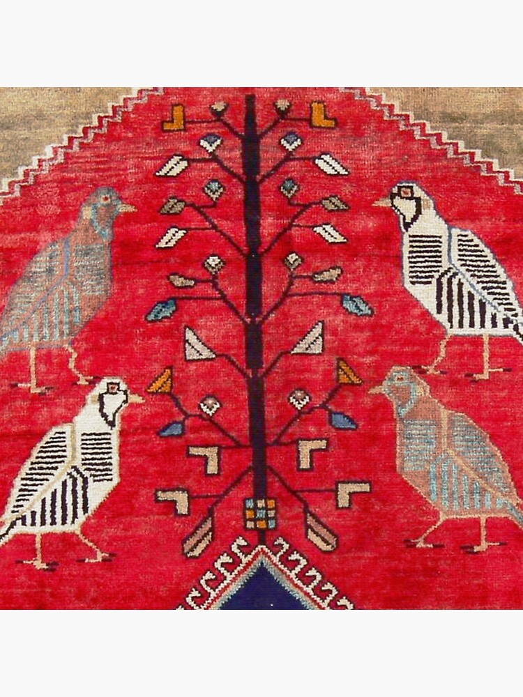 Persian Floral Rug With Several Birds Probably Quail by bragova